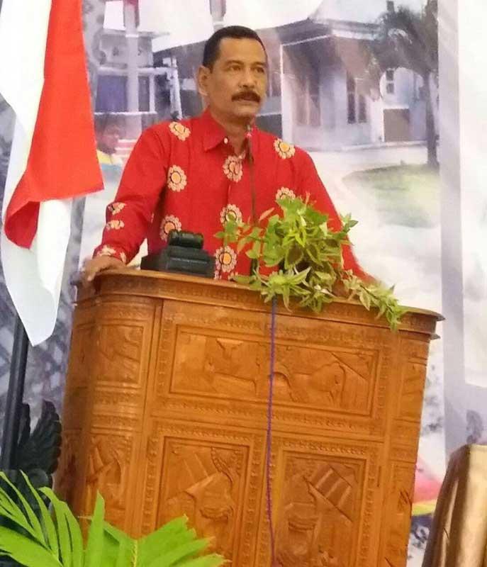 Budi Fatahillah Mansyur  menyampaikan sambutan sebagai Ketua Asdeksi Korda Jatim saat pembukaan acara Diskusi Tematik dan Rakor Asdeksi Korda Jatim, Sabtu (4/11).