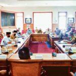 Ketua DPRD Tulungagung, Marsono, pimpin hearing persoalan BPNT di Ruang Graha Wicaksana Kantor DPRD Tulungagung, Kamis (16/7).