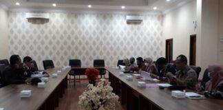 Komisi A saat hearing bersama Bagian Hukum, Bagian Administrasi Pemerintahan dan Bagian Organisasi Pemkab Tulungagung di Ruang Aspirasi Kantor DPRD Tulungagung, Kamis (3/9).