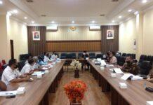 Komisi C saat melakukan pembahasan perubahan APBD Tulungagung tahun 2020 dengan Disperindag dan BUMD milik Pemkab Tulungagung di Ruang Aspirasi Kantor DPRD Tulungagung, Rabu (2/9).
