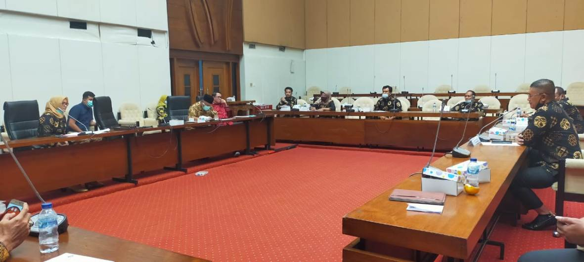 RDP antara Komisi B DPRD Tulungagung dan Komisi IV DPR RI berlangsung di Gedung DPR RI Komplek Perlemen Senayan Jakarta.
