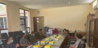 Susilowati saat menerima kunjungan pimpinan dan anggota Bapemperda DPRD Kabupaten Trenggalek, Selasa (2/3) siang.