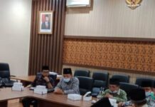 Pimpinan DPRD Tulungagung menerima kedatangan pengurus MUI Kabupaten Tulungagung di Ruang Aspirasi Kantor DPRD Tulungagung, Rabu (30/9).